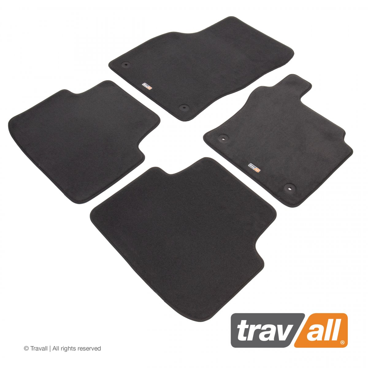 Travall® Mats Urban Edition [RHD] TCM1072DGR-Luxury car mat footwell protection for VOLKSWAGEN PASSAT SALOON / ESTATE (2014-)