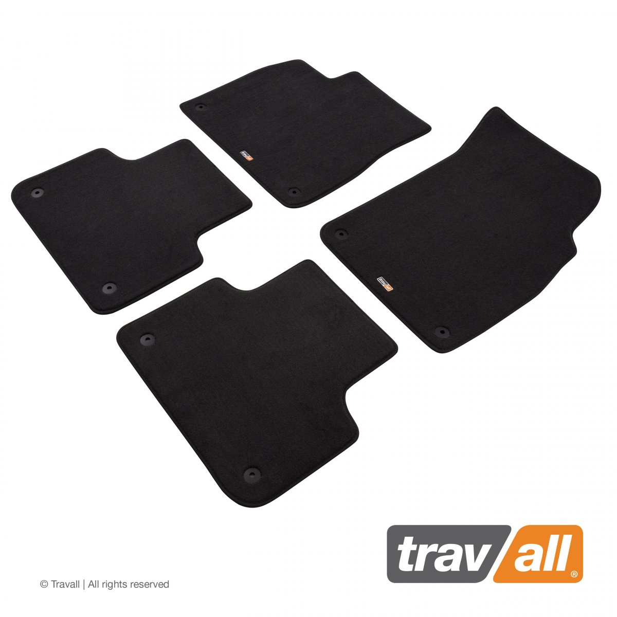 Travall® Mats Urban Edition [LHD] TCM1097DGL-Luxury car mat footwell protection for AUDI Q7/SQ7 (2015-)