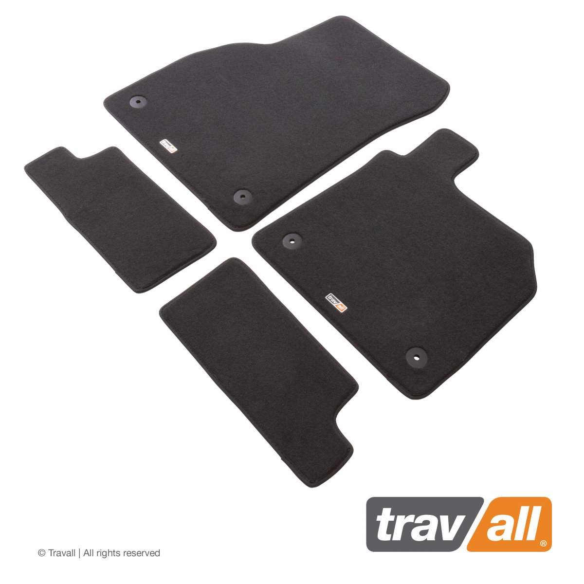 Travall® Mats Urban Edition [RHD] TCM1096DGR-Luxury car mat footwell protection for AUDI TT COUPE / ROADSTER (2014-)